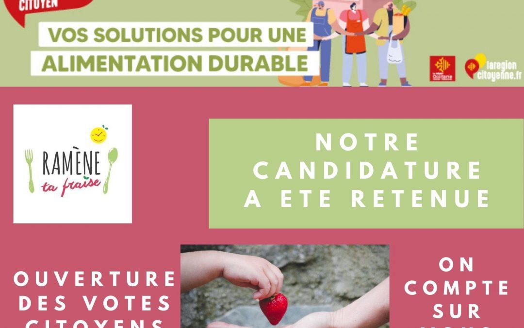 DES WEBINAIRES INSPIRANTS SUR L'ALIMENTATION DES ENFANTS ACCESSIBLES PARTOUT ET POUR TOUS ? VOTEZ RAMÈNE TA FRAISE…DANS TON ASSIETTE !